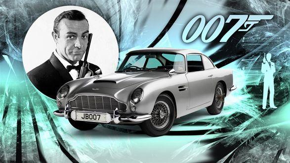Обои Джеймс Бонд агент 007, авто Астон Мартин
