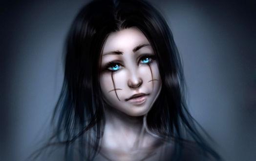 Девушка с грустными глазами фото