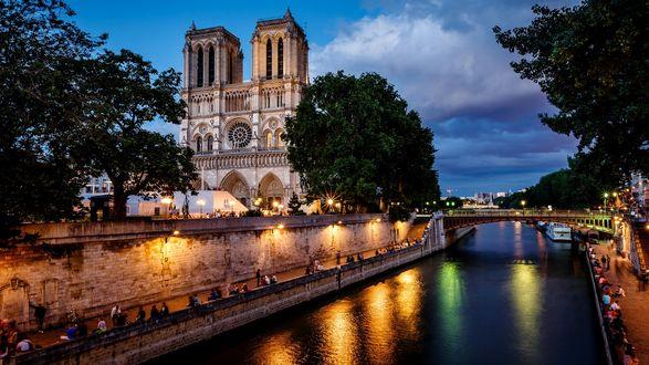 Обои Notre Dame de Paris, France
