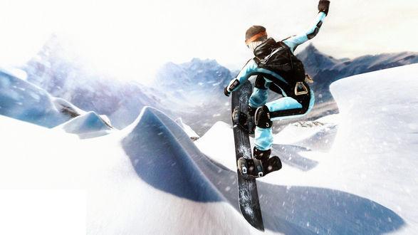 Обои Человек в экипировке лыжника занимается сноубордом, SSX – симулятор безумных катаний по смертельным склонам