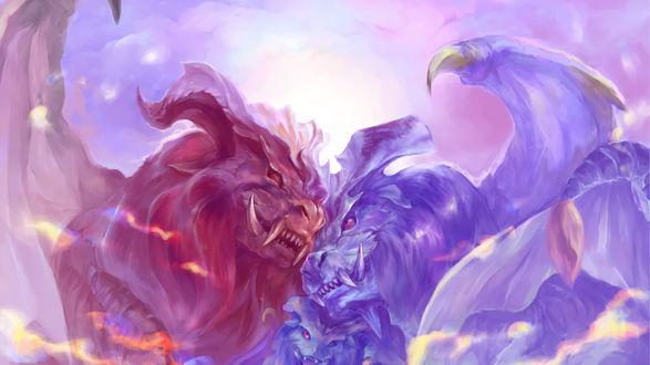Обои Битва монстров огня и холода