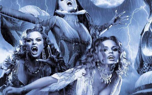 Обои Гаргульи Верона, Мариша, Амира - жены вампира Дракулы из фильма Ван Хельсинг / Van Helsing
