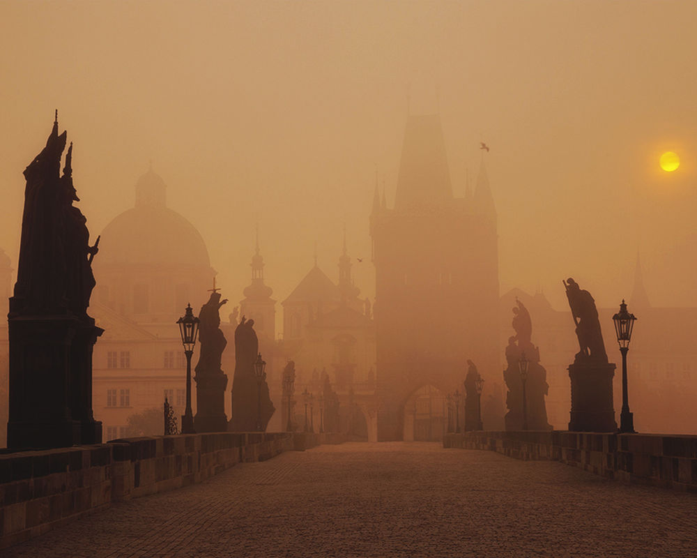 Обои туман. Города foto 17