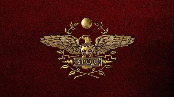 Обои S. P. Q. R. — аббревиатура латинской фразы «Senatus Populus que Romanus» («Сенат и граждане Рима») герб Священной Римской империи