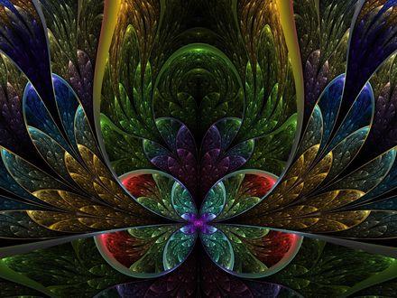 Обои Красивая яркая абстракция