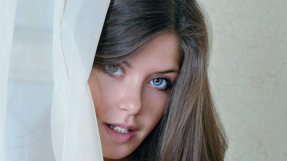 Обои Девушка с голубыми глазами
