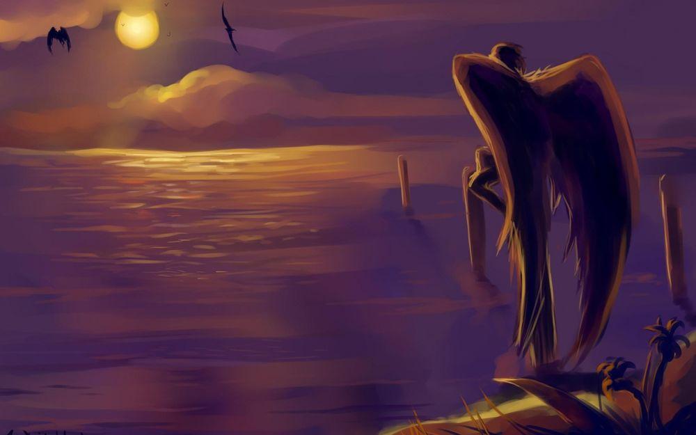Ангел на закате картинки