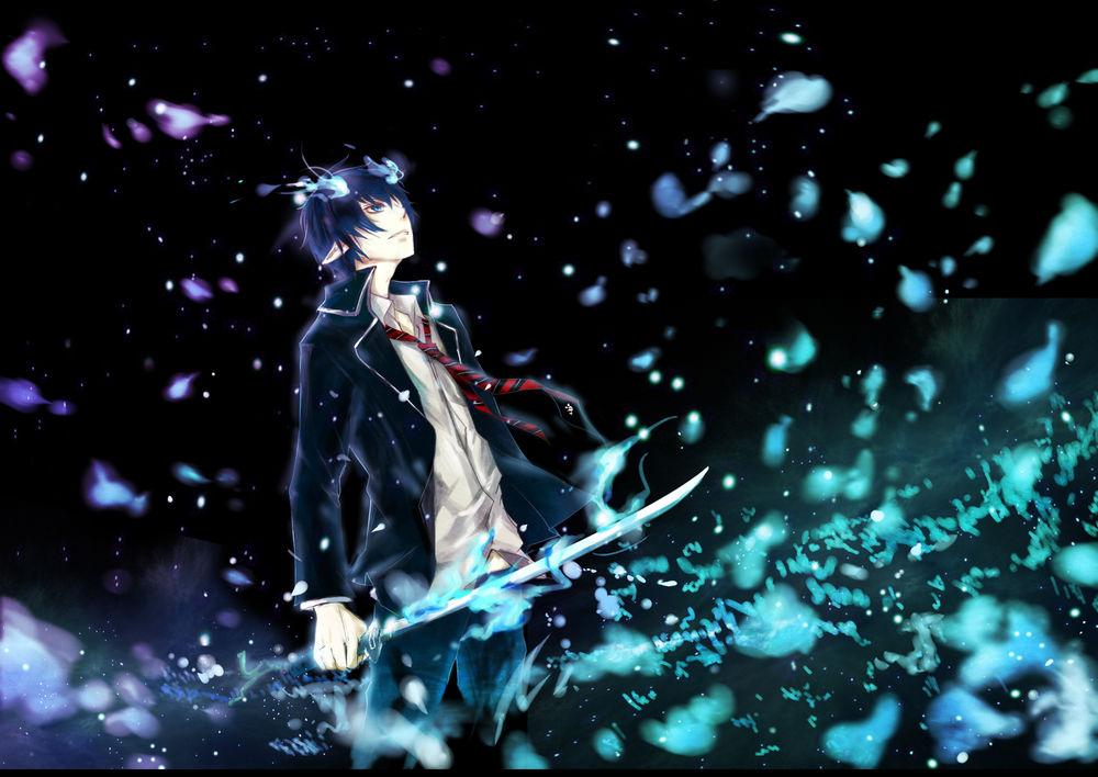 Обои Okumura Rin / Окумура Рин из аниме Blue Exorcist / Ao no Exorcist / Синий Экзорцист на ...