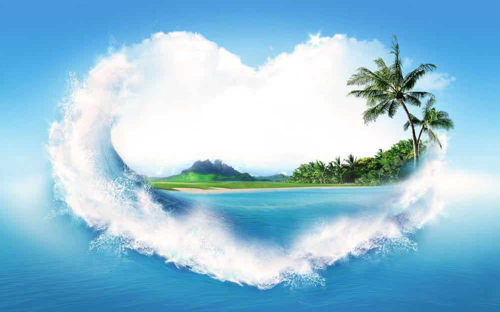 Картинки природа с сердечком