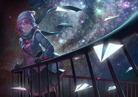 Обои Hitagi Senjougahara / Хитаги Сэндзегахара из аниме Bakemonogatari / Истории монстров