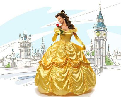 Обои Белль / Belle из мультфильма Красавица и Чудовище / Beauty and the Beast