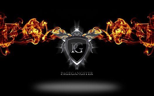 Обои Обои Pagegangster, логотип в огне