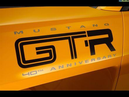 Обои Логотип на крыле авто Ford Mustang GTR