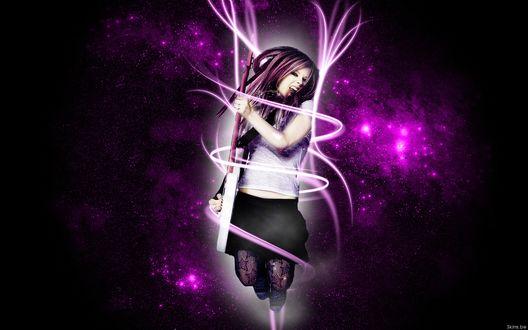 Обои Аврил Лавин / Avril Lavigne канадская певица, автор-исполнитель, дизайнер и актриса