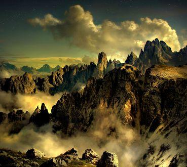 Обои Горы в облаках, фотограф Darko GerЕЎak