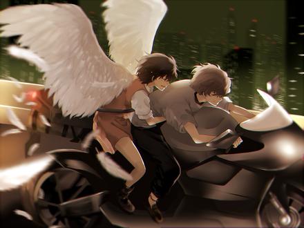 Обои Twelve / Двенадцатый и Lisa Mishima / Лиза Мишима из аниме Zankyou no Terror / Эхо террора