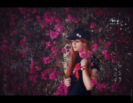 Обои Косплей Сорью Аска Лэнгли / Asuka Langley Soryu из аниме Евангелион / Neon Genesis Evangelion