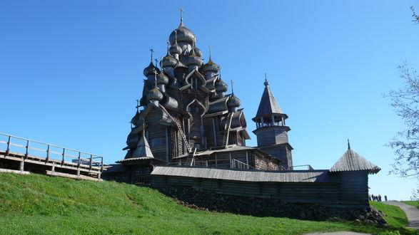 Церковь Кижи лодка Россия бесплатно