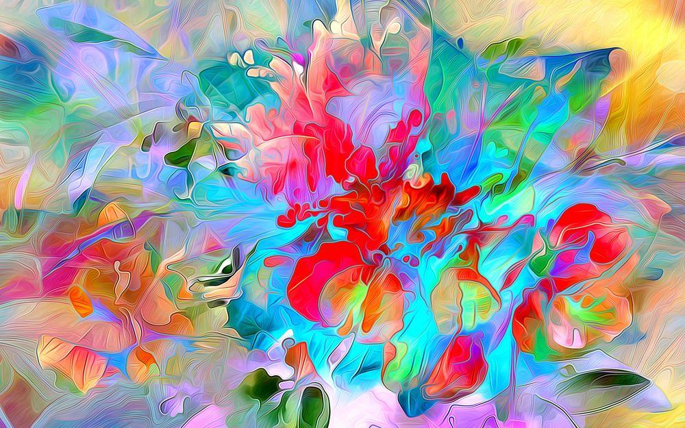 Цветы обои акварель