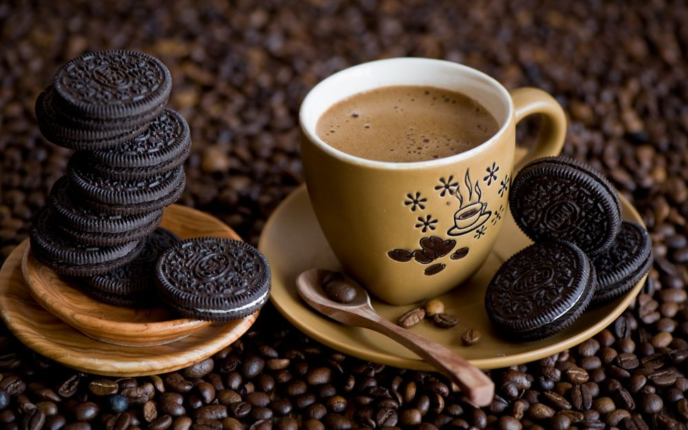 Чашка кофе картинки черно белые 4