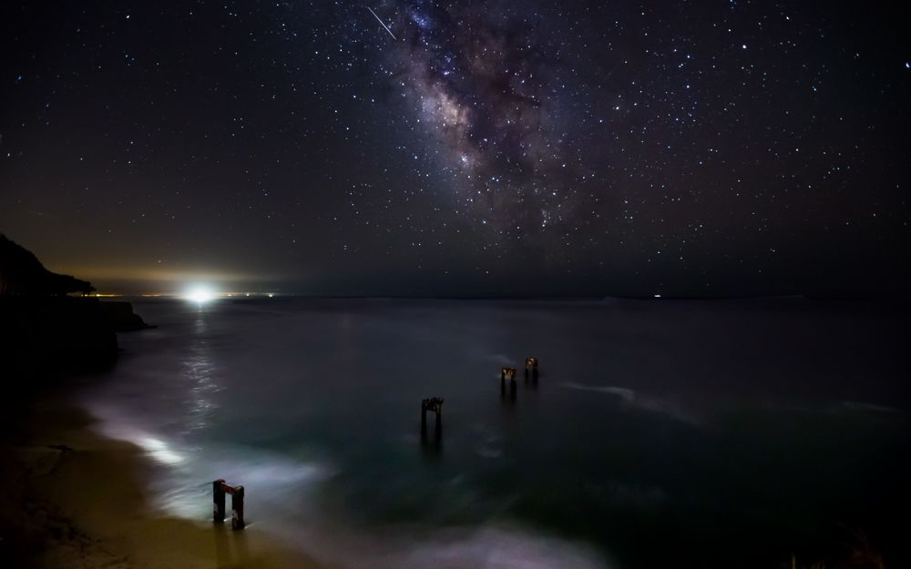 Картинки море и звездное небо