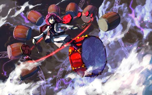 Обои Horikawa Raiko / Хорикава Райко из компьютерной игры Touhou Project / Проект Восток, art by Pixiv Id 165186