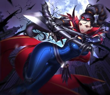 Обои Vayne / Вейн из игры League of Legends / Лига Легенд, art by Liuruoyu8888
