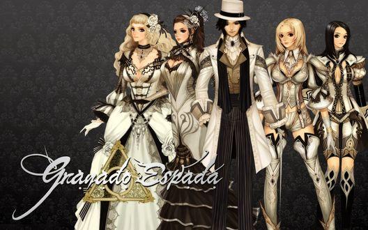 Обои Fighter, Scout, Warlock и Wizard из игры Granado Espada, Sword of the New World