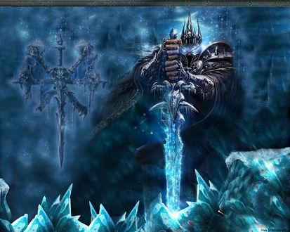 Обои Король лич в ледяном окружении