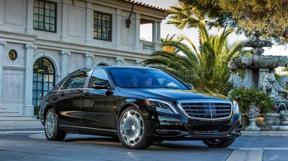 Обои Mercedes, Maybach, S Class, S600, черный, премиум класс