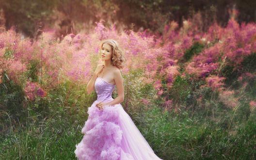 Женщина в розовом фото 643-164
