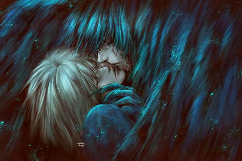 Обои Howl / Хаул и Sophie Hatter / Софи Хаттер из аниме Howl no Ugoku Shiro / Ходячий замок Хаула, by NanFe
