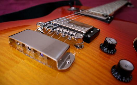Обои Гитара, фрагмент, Hagstrom Deluxe