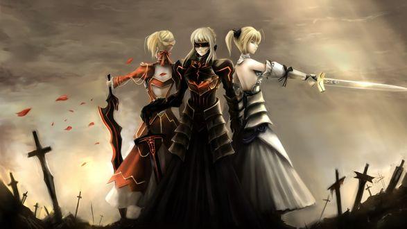 Обои Saber / Сейбер персонаж из аниме и игры Fate. Stay Night / Судьба. Ночь Прибытия
