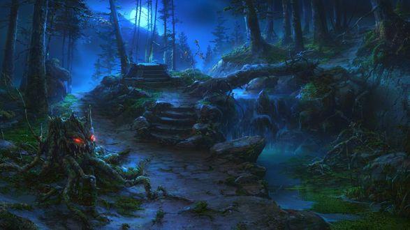 Обои Сумеречный лес со своими чудовищами
