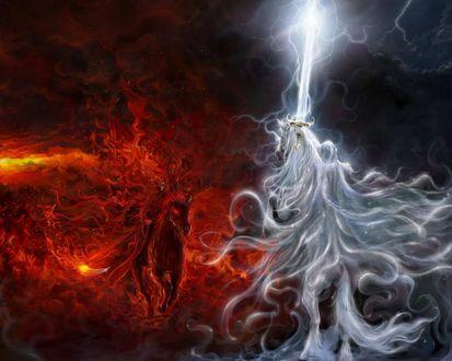 Обои Небесные ангелы в облике всадников