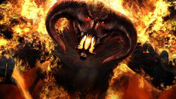 Обои Балрог (Balrog) - демон из фильма Властелин колец