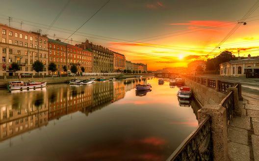 Обои Санкт-Петербург, Фонтанка, Россия