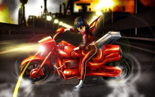 Обои Рюко Матой из аниме Kill la Kill