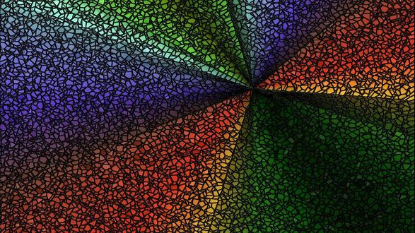 Обои Картина из разноцветной мозаики