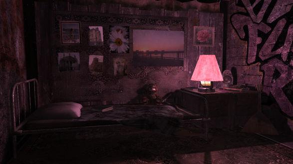 Обои Рисунок полутемной комнаты