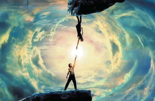 Обои Парень и девушка из параллельных миров преодолевают притяжение своих планет притяжением любви