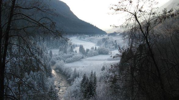 Обои Красота зимнего пейзажа