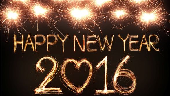 Обои Happy New Year 2016 / Счастливого нового года 2016