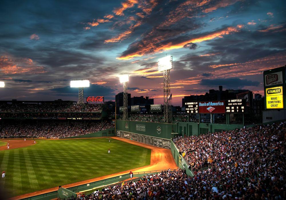 Обои для рабочего стола Fenway Park, бейсбольный стадион в Бостоне, Бостон, штат Массачусетс, США