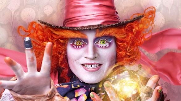 Обои Алиса в Зазеркалье - Джонни Депп / Johnny Depp
