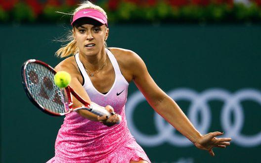 Обои Теннисистка Сабина Лисицки на корте