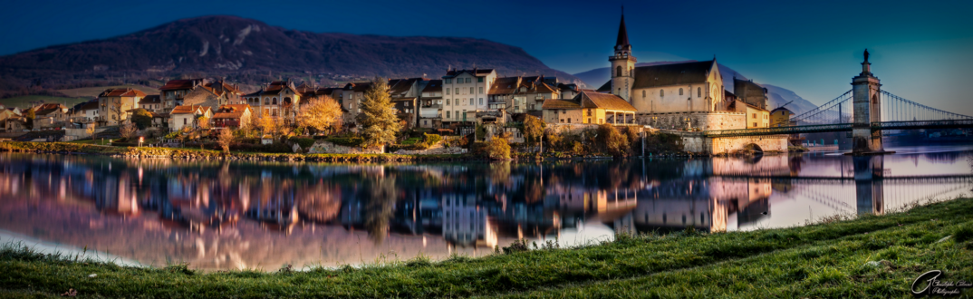 Обои Панорама Французской коммуны Сесель, Верхняя Савойя, Рона-Альпы, Франция, by Archangenithael