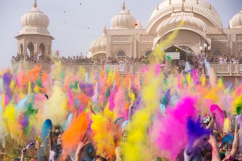 Обои Яркий индийский праздник Холи