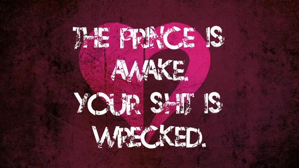 Обои Символ Принца Сердца / Prince Of Heart из веб-комикса Хоумстак / Homestuck (The Prince is Awake. Your Shit is Wrecked.)